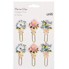 Uniti Planner Clips Vintage Floral