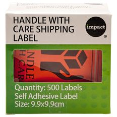 Impact Handle With Care Shipping Label Roll Of 500