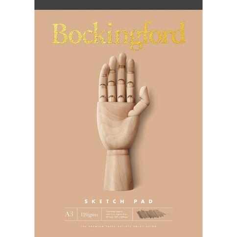 Bockingford Sketch Pad B21 60 Leaf 120gsm Yellow A3