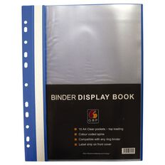Office Supply Co Binder Display Book 20 Pocket Blue A4