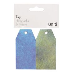 Uniti Tags 24 Piece Holographic