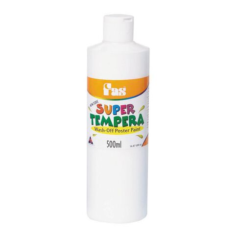 FAS Paint Super Tempera 500ml White White 500ml