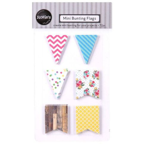 Rosie's Studio Mini Diecut Bunting Bright 72 Piece