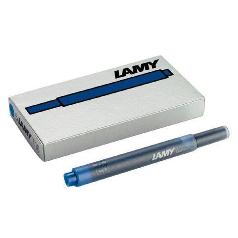 Lamy T10 Fountain Pen Cartridge 5 Pack Blue