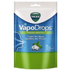 Vicks Vapodrops Original Menthol 24pk