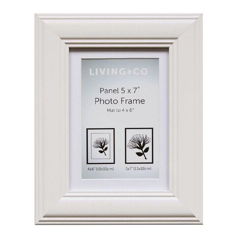 Living & Co Living & Co Panel Frame 4x6 (5x7) White White