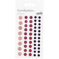 Uniti Bling Crystal Sticker 52 Pieces Red