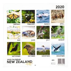 2020 Calendar New Zealand Wildlife 290mm X 290mm