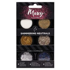 American Crafts Moxy Glitter Shimmering Neutrals 6 Pack