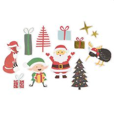 Uniti Santas Grotto Die Cut Shapes 69 Piece