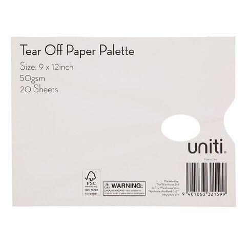 Uniti Tear Off Paper Palette White