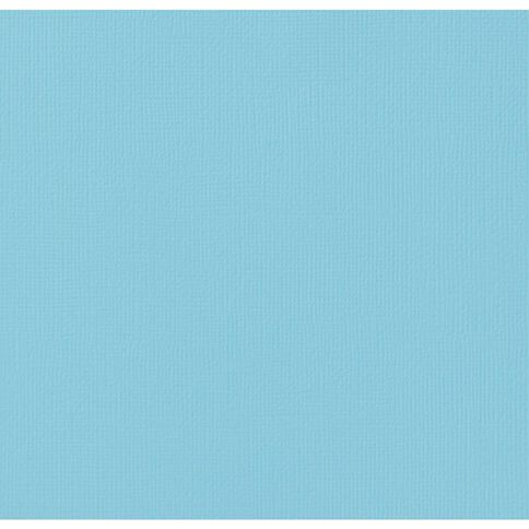 American Crafts Cardstock Textured Pool Blue 12in x 12in