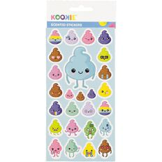 Kookie Sticker Sheet Scented 3 Assorted