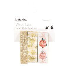 Uniti Botanical Glitter Washi Tape 3 Pack