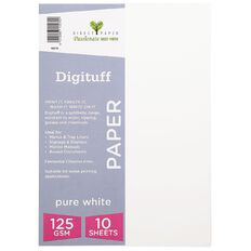 Direct Paper Digituff 125gsm 10 Pack Pure White A4