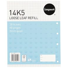 Impact Pad Refill 14K5 2mm Quad 30 Leaf Punched Blue