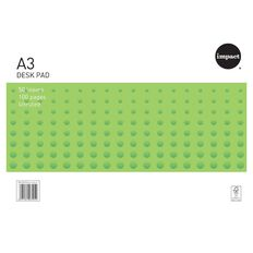 WS Desk Pad 55gsm 50 Leaf White A3