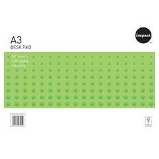 WS Desk Pad 55gsm 50 Leaf White A3 White A3