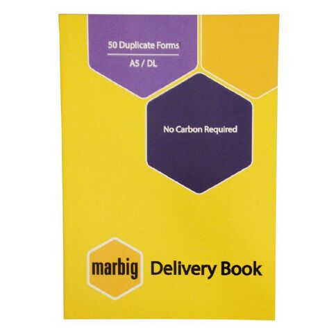 Marbig Delivery Book Duplicate 50 Leaf Yellow A5