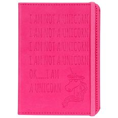 Banter Unicorn Faux Leather Notebook A6