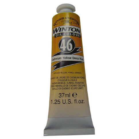 Winsor & Newton Winton Oil Paint 37ml Cadmium Deep Yellow