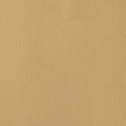American Crafts Cardstock Textured 12 x 12 Kraft Brown
