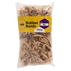 Marbig Rubber Bands 500g #64 Brown