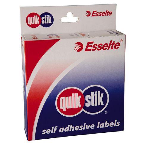 Quik Stik Labels Ms19 19mm x 19mm 900 Pack White