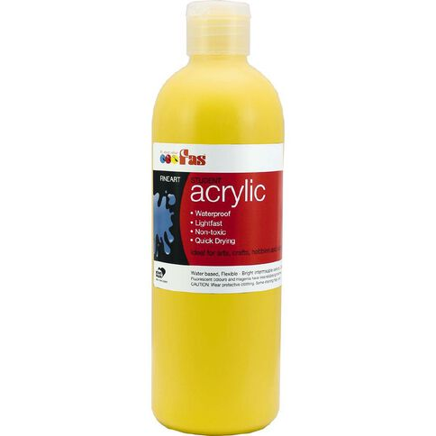 FAS Paint Student Acrylic Yellow 500ml