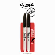 Sharpie Permanent Fine Marker Black 2 Pack