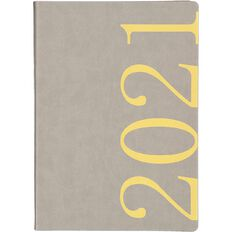 Dats Diary 2021 Day To Page Fashion PU Cover Assorted A4