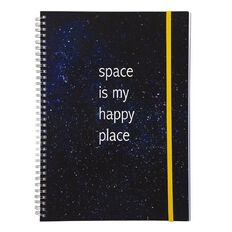 Uniti F&F Spiral Project Notebook Space Is My Happy Place A4
