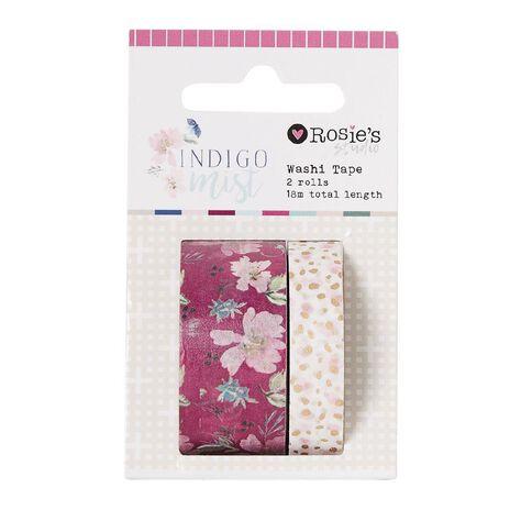 Rosie's Studio Indigo Mist Washi Tape 18m 2 Pack