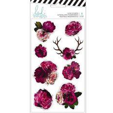 Heidi Swapp Hawthorne Stickers Clear Floral