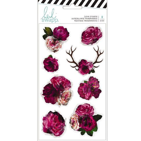 Heidi Swapp Hawthorne Stickers Clear Floral