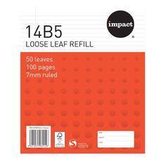 Impact Pad Refill 14B5 7mm Ruled 50 Leaf Red
