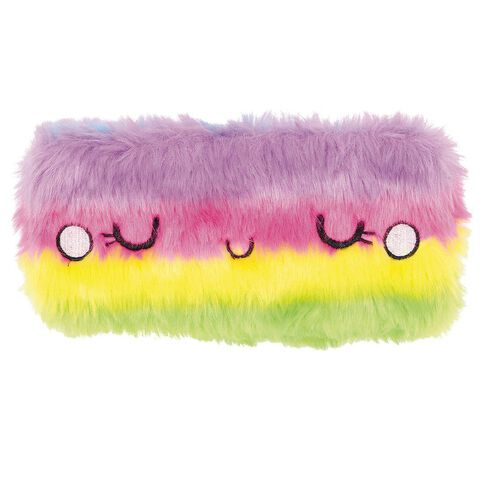 Kookie Furry Rainbow Pencil Case
