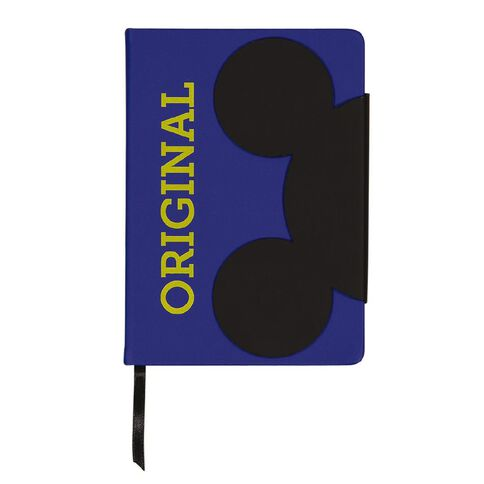 Mickey Mouse PU Notebook Shaped Closure With Magnets Blue A5