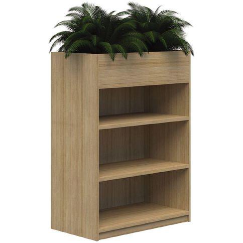 Mascot Planter Bookshelf Classic Oak 1200x900