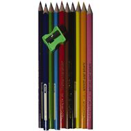 Faber-Castell Coloured Pencils Grip Tri 10 Pack 10 Pack