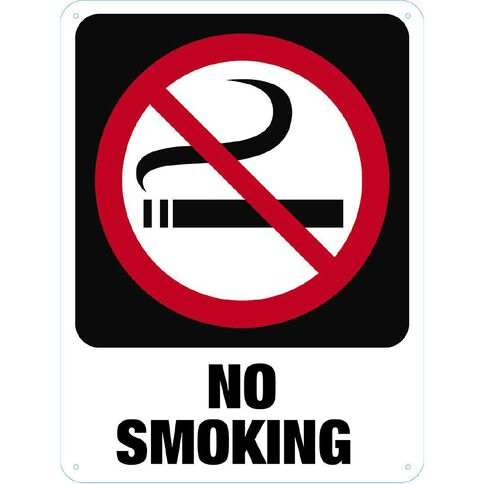 WS No Smoking Sign Large 600mm x 450mm