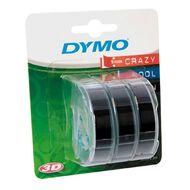 Dymo Embosser Tape Black 9mm x 3m 3 Pack