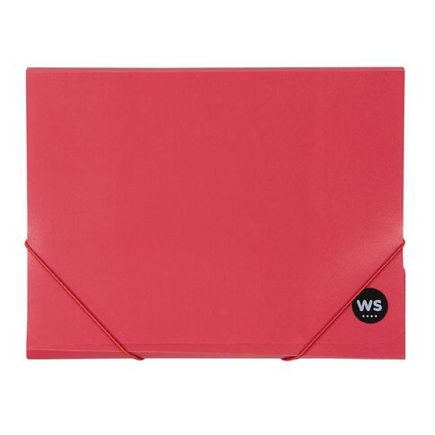 WS Wallet PP Elastic Red A4