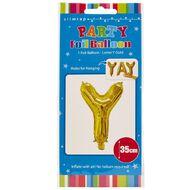 Artwrap Foil Balloon Y Gold 35cm