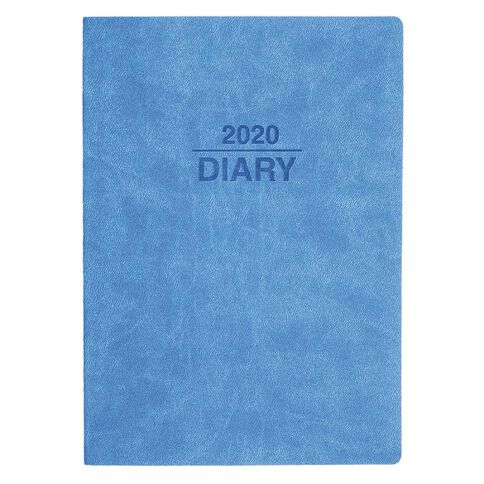 Dats Diary 2020 Day To Page Soft PU Cover Assorted A4