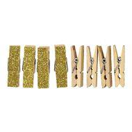 Uniti Pegs Glitter Gold 8 Pack