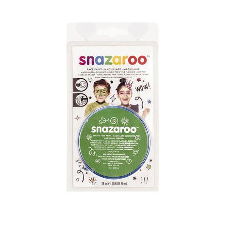 Snazaroo Face Paint 18Ml Pot Green Green