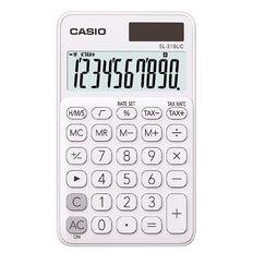 Casio Hand Held 10 Digit Calculator White