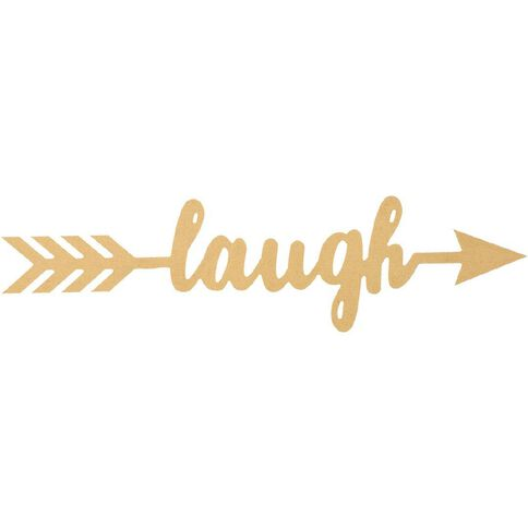 Rosie's Studio MDF DIY Wall Art Laugh Arrow