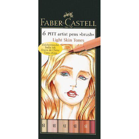 Faber-Castell Pitt Artist Brush Pens Light Skin Tones 6 Pack